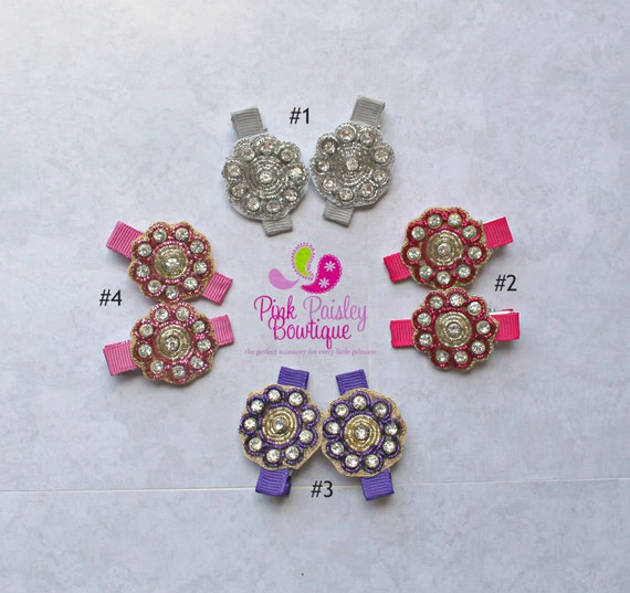 You Pick 2 Flower Clips - Baby Girl HairClips - Alligator Clips - Baby Girl Hair Bow - Baby Hair Accessories - Baby Bows -  Outfit