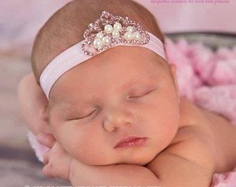 Baby Headbands - You Pick 1 Tiara Headband - Infant Headband- Princess  Baby Girl Headbands - Baby Hair Accessories - Baby Hair bows