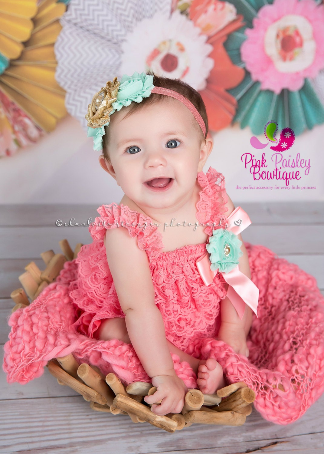 Brand New Baby Girls Outfit 3 Piece Princess Has Arrived Romper Pink Clothing