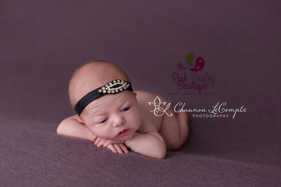 Baby Headbands - You pick 1 Rhinestone Headband - Infant Baby Headband - Baby Girl Headbands - Baby Hair Accessories - Baby Hairbows - Bows