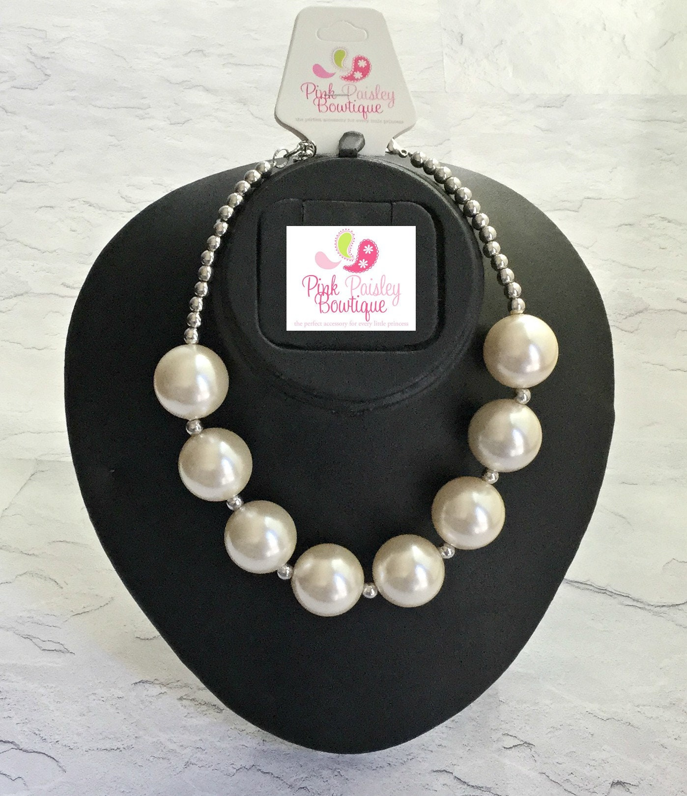 Toddler Jewelry ivory chunky necklace Baptism  necklace Baby Chunky Necklace cake smash photo prop chunky little girl necklaces