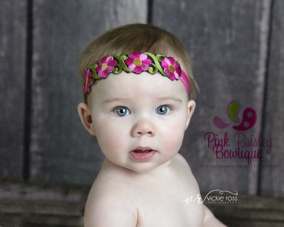 Pink Halo Baby Headbands. Newborn Photo Prop. Baby Bows. Baby Girl Bows. Baby Headband. Baby Hair bows. Baby Hair Accessories. Baby hairbows