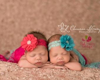 Infant headbands - Baby headbands - Baby girl headband - Newborn Photography prop - Baby Hair Accessories - baby hairbows - Baby Bows