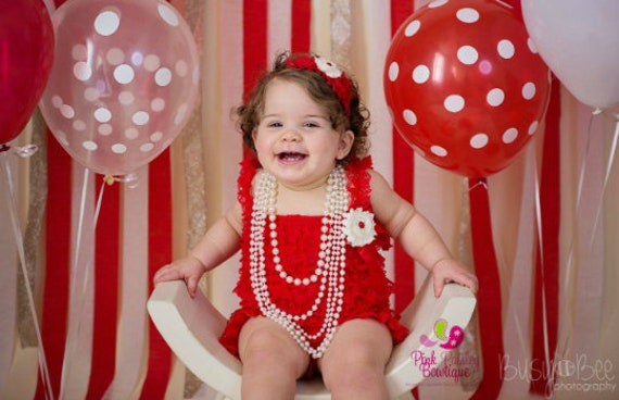 Red valentine day Dress, Baby girl 1st birthday outfit, Christmas Outfit, Baby romper, Cake Smash Outfit, Baby Girl 1st Dress, Red Romper
