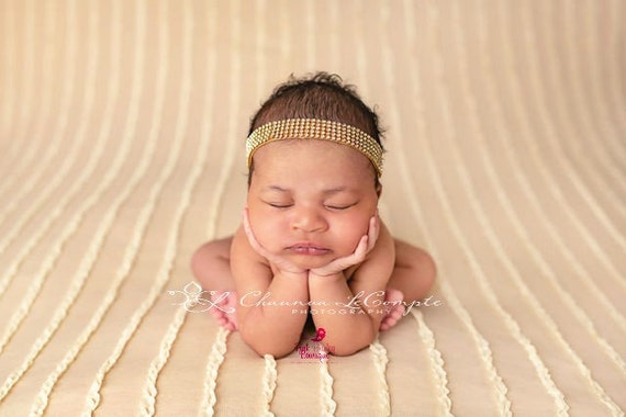 Rhinestone Baby Headband, Gold Halo Headband, Gold Holiday Headband, Newborn Photo Prop, Baby Bows, Baby Hair Accessories, Gold Hair Bows