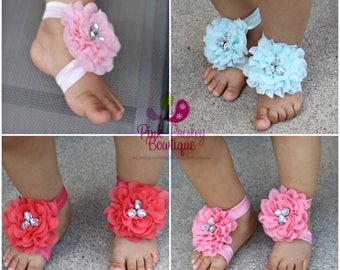 Baby Shoes - Baby Barefoot Sandals - Toddler Sandal - Newborn Sandal - Newborn Shoes - Baby Sandals - Baby Girl Barefoot Shoes
