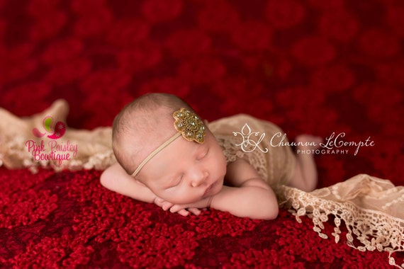 Baby Hair Accessories - Gold Baby Headband - Vintage Headbands - Baby Girl Headbands- Baby Headbands - Infant Headband - Sparkle Birthday