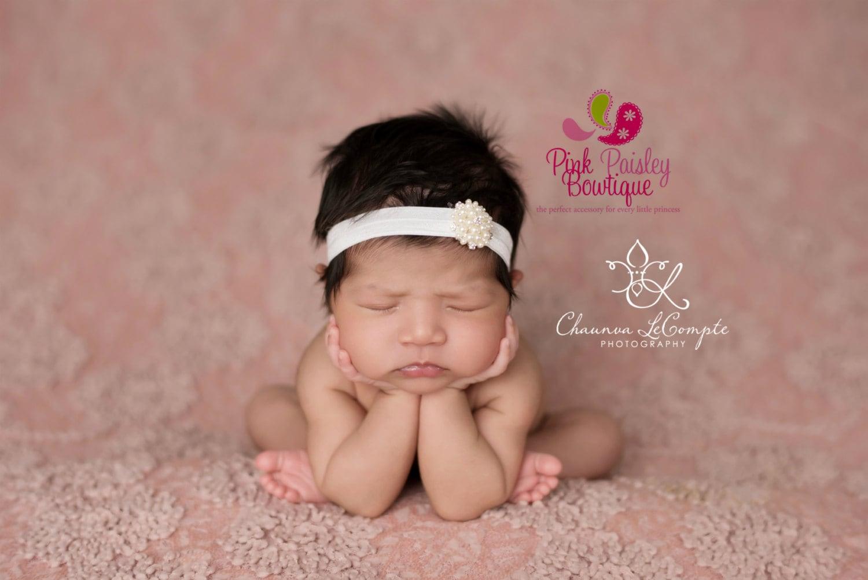 Baby Headband For Christening Newborn Baptism Headband Baby Girl Christening Headband Rhinestone Headband Silver Christening Headband
