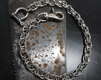 Wallet Chain - Chain Wallet - Biker Chain - Biker Gift - Chrome Chain - EDC - Spiral Chain - Biker Accessories - Custom Wallet