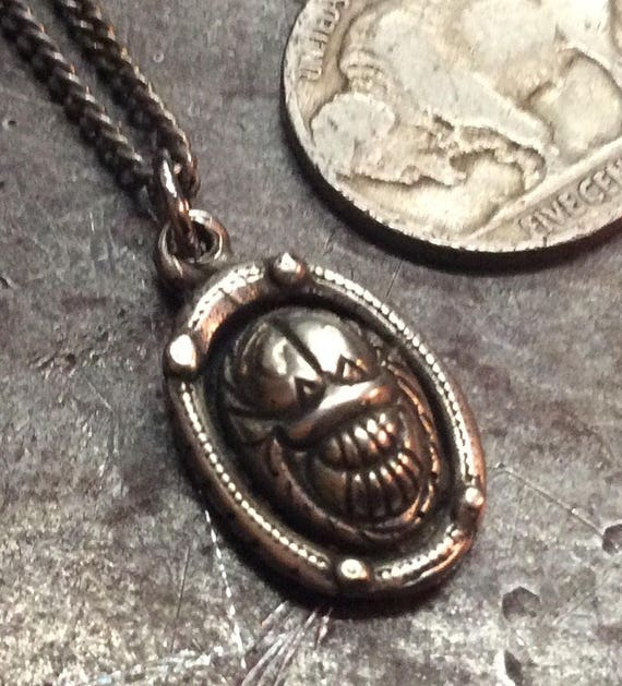 Egyptian Scarab Dung Beetle Symbol Of Rebirth Cast In White Etsy