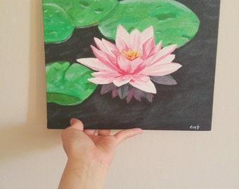 Lotus painting etsy lotus flower painting mightylinksfo