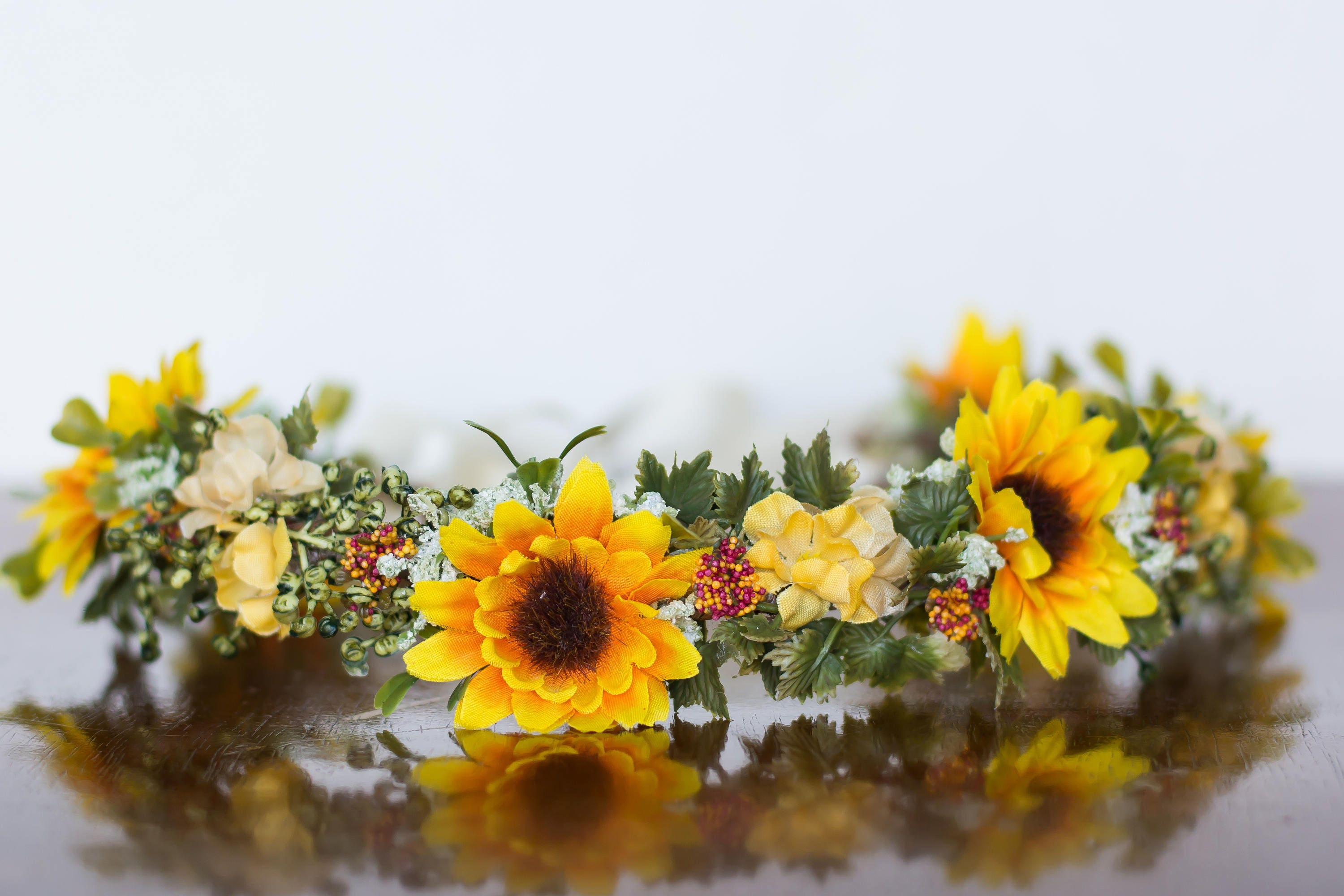 Floral Crown Sunflower Flower Crown Flower Halo In Fall Etsy