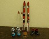 Miniature modern ski 1.12 scale  last piece