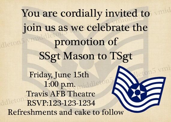 Superior Military Promotion Ceremony Invitation Any Branch Any Rank