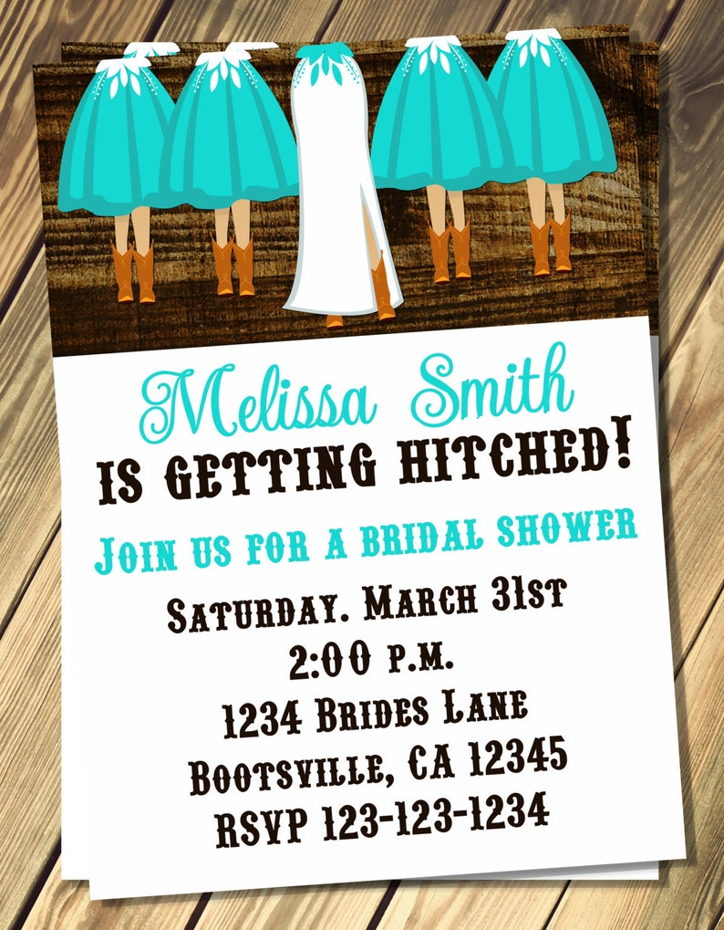 65809b7d242 Cowgirl Bridal Shower Invitation Print Your Own