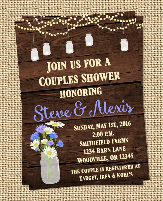 a2f7d479bd7f Rustic Barn Country Wedding Shower Invitation Print Your Own