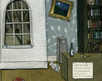 The Drunken Librarian greetings card