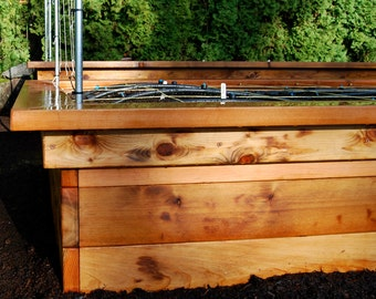 Build Your Own Raised Bed Frame with Seats