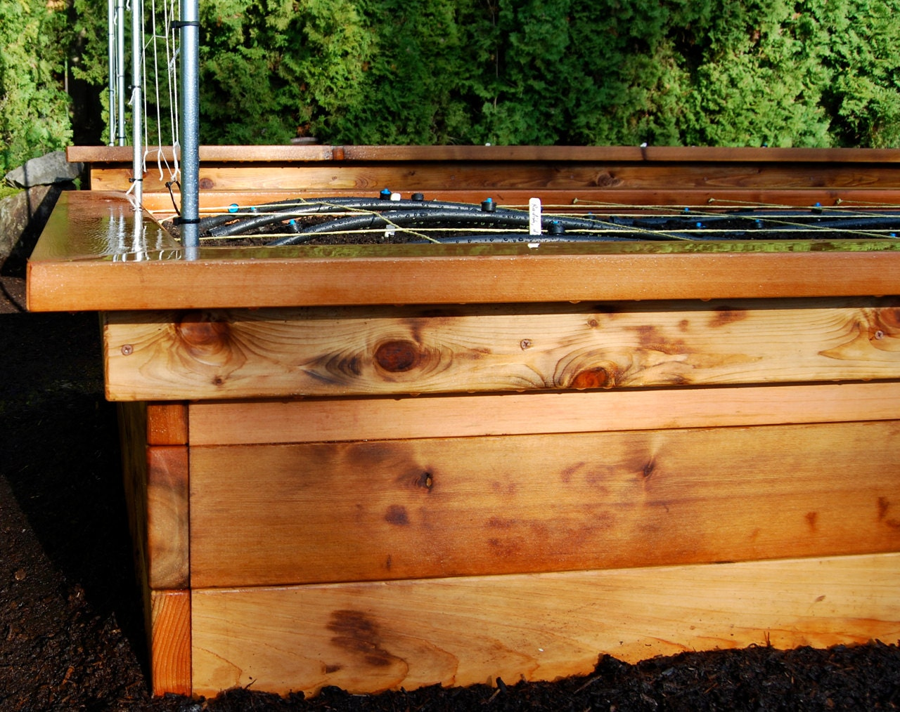 Build Your Own Raised Bed Frame with Seats | Etsy