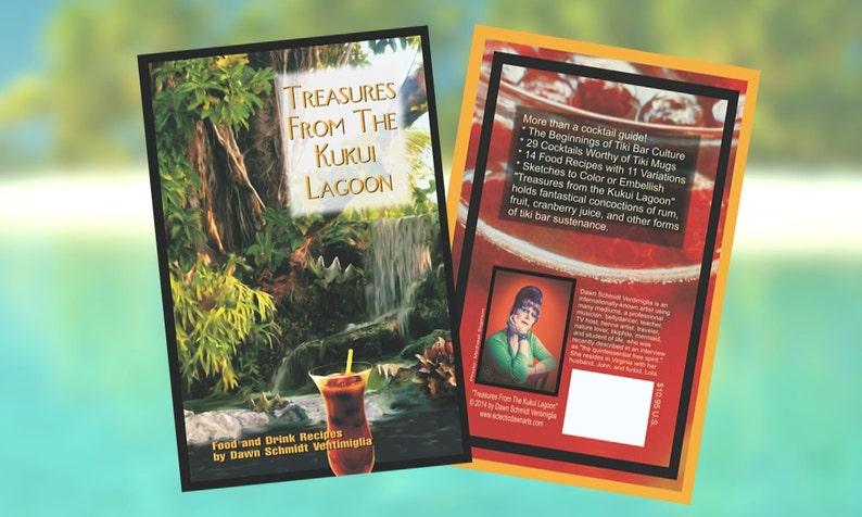 Tiki Bar Exotic Cocktails & Food Recipe Book Illustrated image 0
