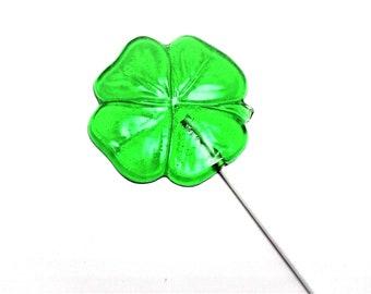 12 LARGE SHAMROCK Lollipops - St Patrick's Day , Irish Wedding