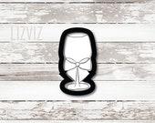 Wine Glass Cookie Cutter. Wine Bottle.
