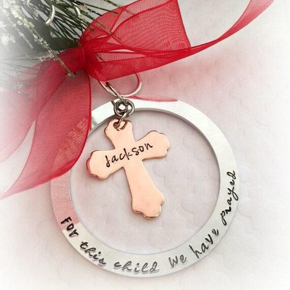 image 0 - Adoption Christmas Ornaments Personalized Religious Etsy