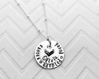 Adoption Gotcha Day  Necklace - Gotcha Day Gifts - Personalized Adoption Jewelry - Personalized Gotcha Day Necklace - Personalized