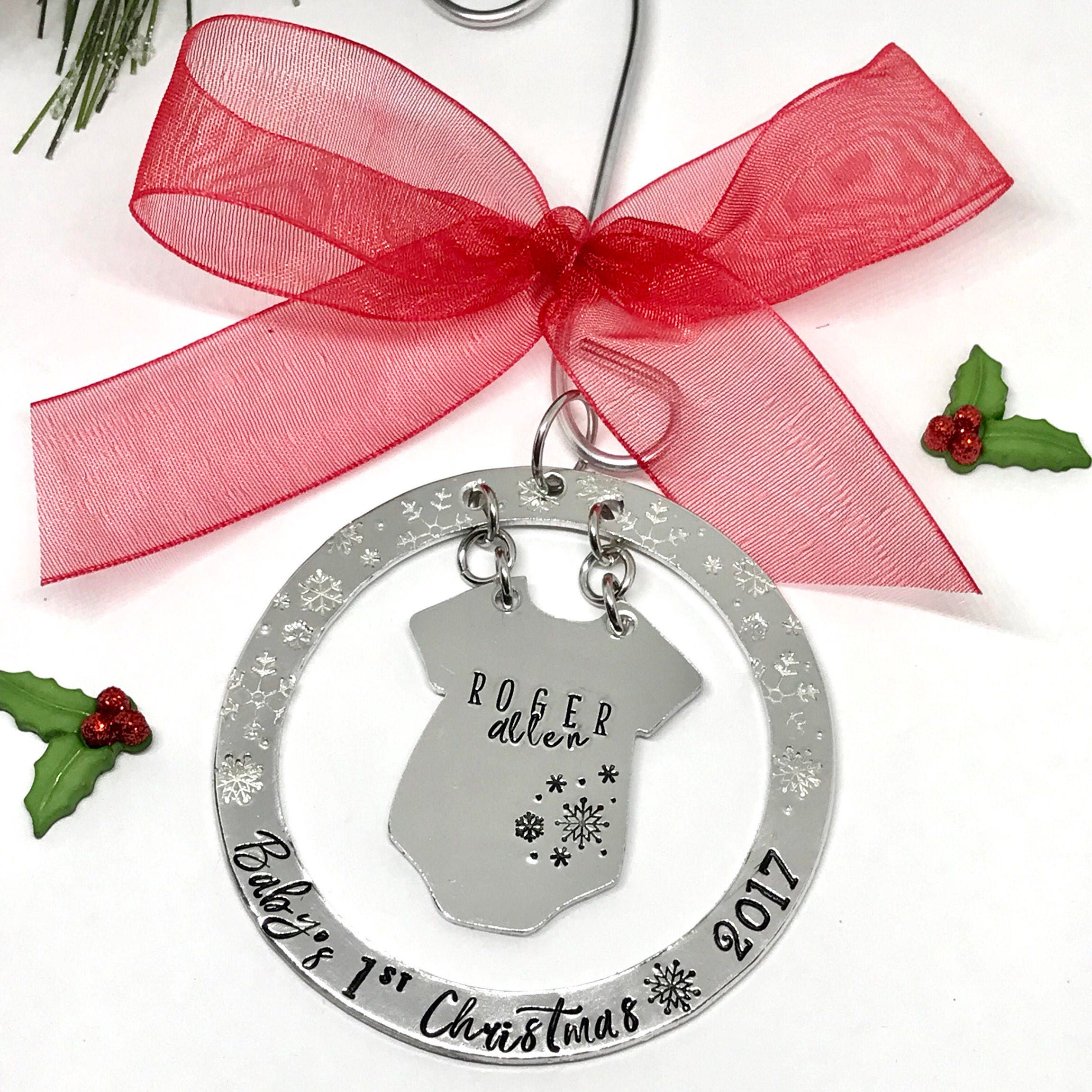 Baby\'s First Christmas Ornament Hand Lettering Style