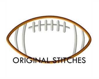 SALE - Football Applique and Embroidery Digital Design File 4x4 5x7 6x6 6x10