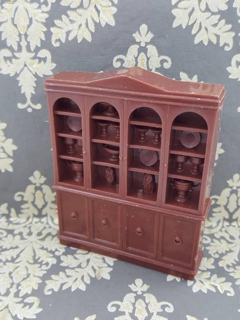 Marx Soft Plastic French Provencal China Cabinet Hutch Dining