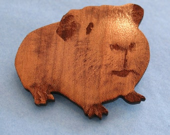 Guinea pig brooch (side)