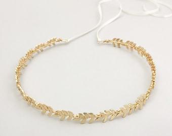 Gold leaf hair vine • Gold leaf wedding hair vine • Gold leaf bridal hair vine • Gold leaf wedding headband • Gold leaf wedding crown