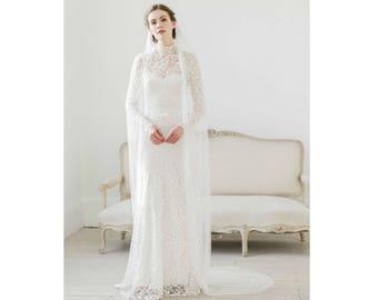 Pure soft silk wedding veil • Pure silk single tier wedding veil • Silk tulle wedding veil • Silk tulle bridal veil