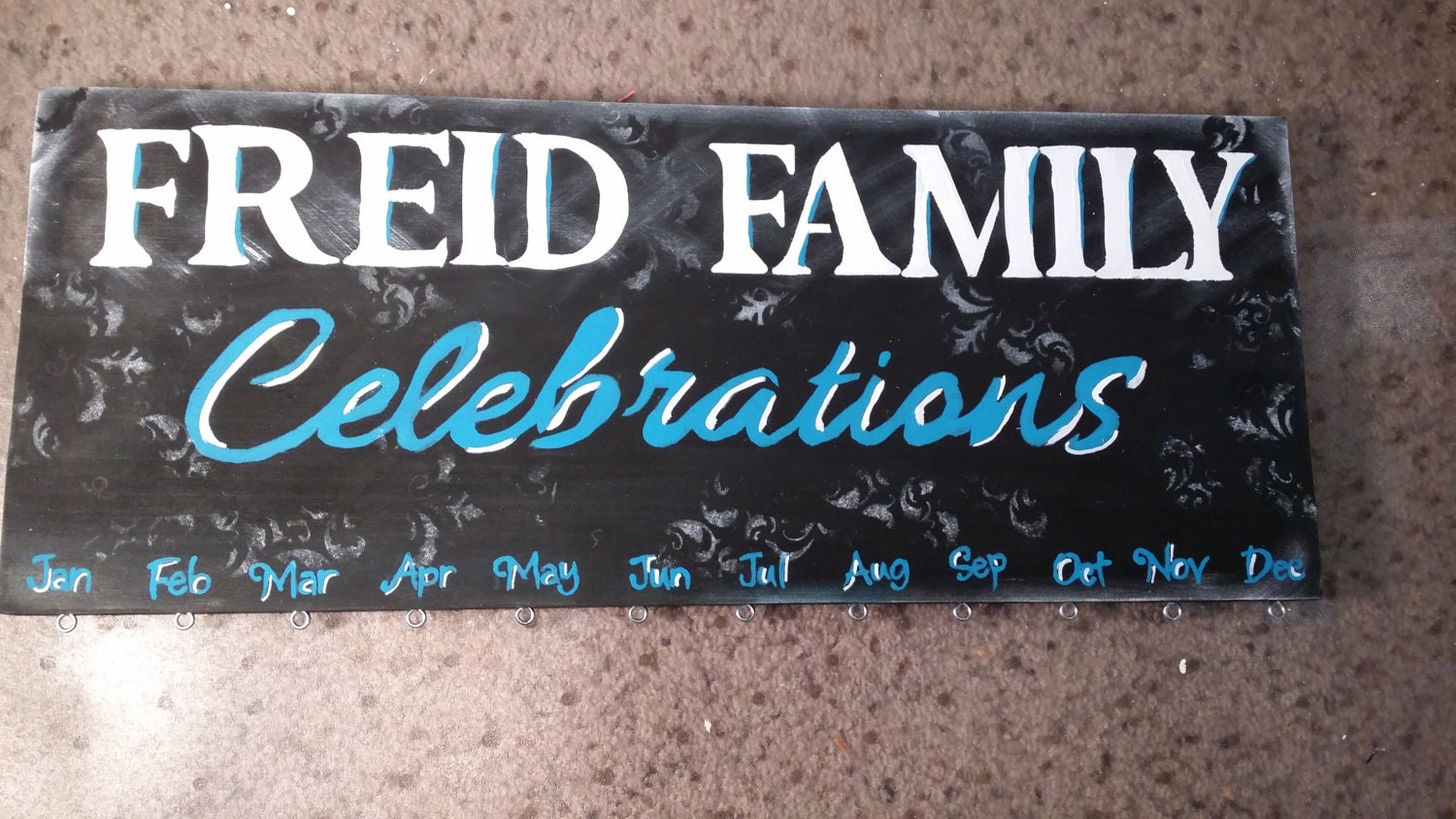 Customized and Personalized Family Birthday Board Wall hanging, reminder, calendar, organizer, family tree plaque