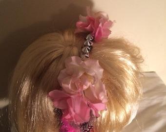 Pink punk headress