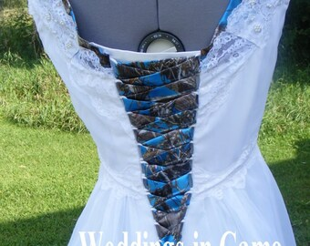 Camo Wedding Dress Etsy