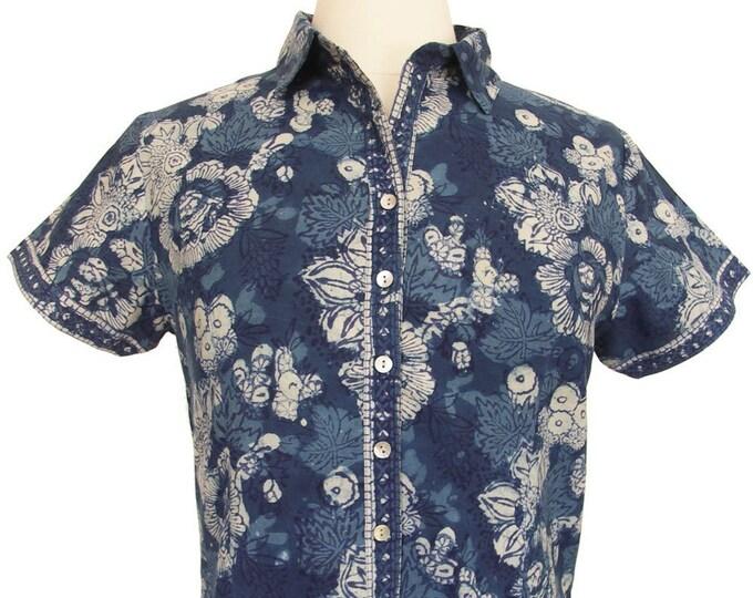 Short sleeved shirt - Safflower Indigo - Size Medium