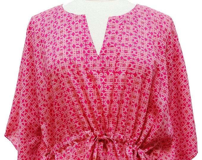 Mini Kaftan - Mystic Knot Pink - free size