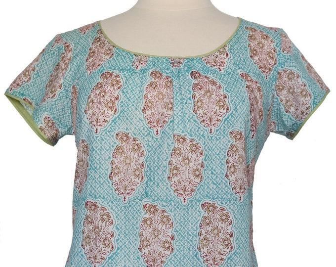 Short sleeved summer top - Persian Booti