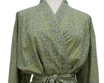 Short Kimono - Mystic Knot Green - free size