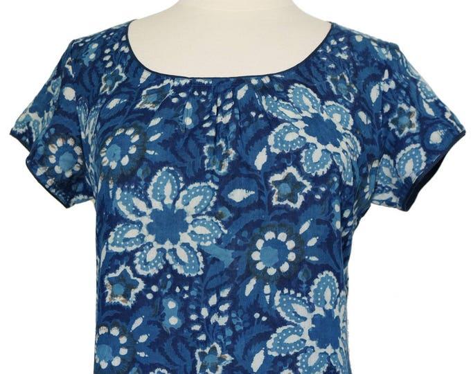 Short sleeved summer top - Versielles Indigo