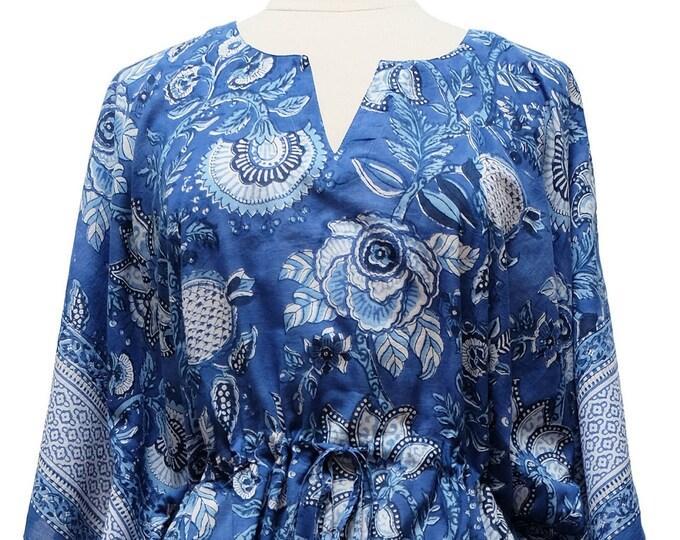 Long Kaftan - Palangposh Blue - free size