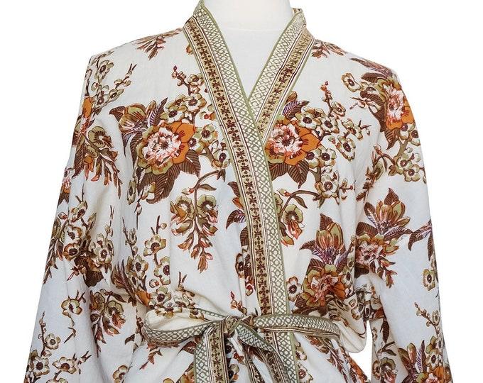 Long Kimono - Flora - free size