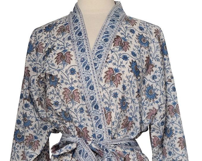 Long Kimono - Floral trellis - free size