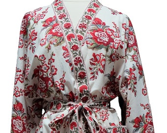 Long Kimono - skyflower - free size