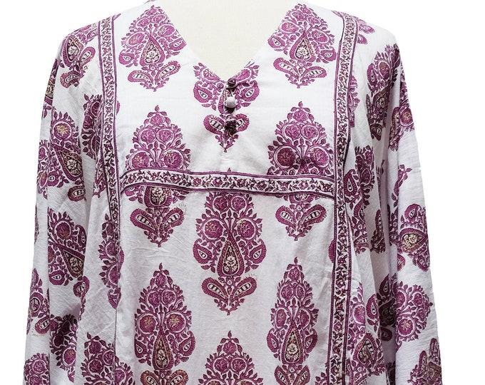 Midi Kaftan Dress- Paisley Tree - free size