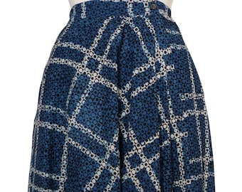 Genie pants - Indigo Plaid