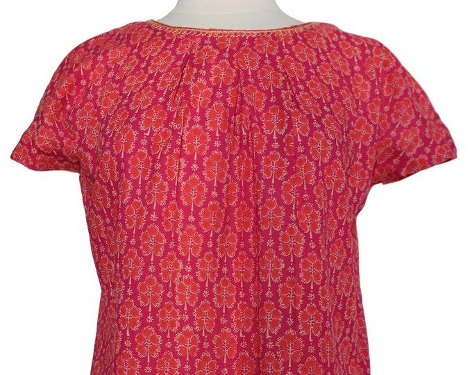 Short sleeved summer top - Hot Pink Booti