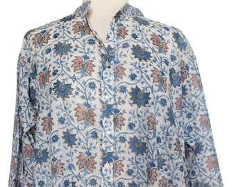 Oversized Shirt - Tunis flower